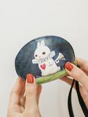 零錢包梨花娃娃少女零錢包小清新迷妳可愛韓國手拿多功能硬幣袋鑰匙卡包 艾維朵