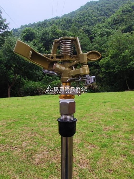 360度自動旋轉搖臂噴頭草坪綠化園林農用噴灌灌溉灑水器澆地神器 快速出貨