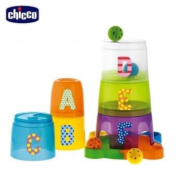 chicco-二合一字母遊戲疊疊杯