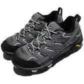 Merrell 戶外鞋 Moab 2 GTX 灰 藍 Gore-Tex 防水 透氣 越野 休閒鞋 運動鞋 女鞋【PUMP306】 ML06036