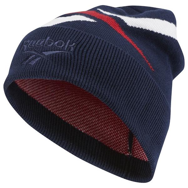 REEBOK CLASSICS LOST AND FOUND  帽子 毛帽 保暖 藍 【運動世界】 DH3556