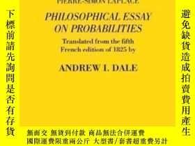 二手書博民逛書店Pierre-simon罕見Laplace Philosophical Essay On Probabilitie