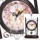 彼得兔歐式復古窯擺座鐘時鐘花朵草原096903通販屋