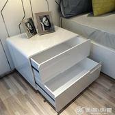 床頭櫃簡約現白色歐式鋼琴烤漆特價臥室北歐儲物床邊櫃整裝 YXS 優家小鋪
