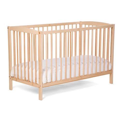 *babygo*西班牙Childhome 嬰兒床/原木色+天然椰子床墊贈100%純棉床包