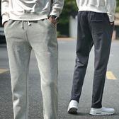 秋冬季薄款寬鬆男士運動褲男加絨厚款直筒衛褲針織大碼休閒長褲子 三角衣櫃