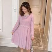 初心 蕾絲 洋裝 【D7106】韓系 針織 公主系 高質感 洋裝 長袖 洋裝