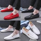 男懶人鞋休閒皮鞋社會小夥鞋快手紅人鞋男 『夢娜麗莎』