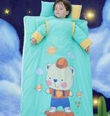嬰兒睡袋兒童秋冬季加厚純棉寶寶四季通用款小孩中大童防踢被神器 夢露