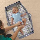 外出便攜式嬰兒床寶寶分隔床安全折疊小床可愛多 旅行床床中床igo 櫻桃