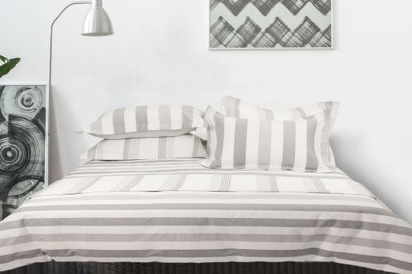 NUPPU 純棉色織《羅丹》床包(白色)四件組