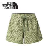【The North Face 女 DWR休閒短褲《綠格》】3GIC/快乾短褲/運動短褲/健行褲/防潑水