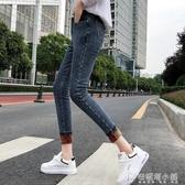 高腰加絨牛仔褲女冬季 新款韓版修身顯瘦加厚保暖小腳鉛筆褲子 安妮塔小鋪