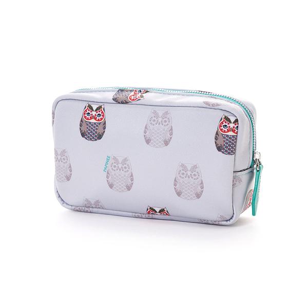 Papinee Owl Cosmetic Pouch Small, 英國 貓頭鷹 旅行系列 多功能 立式收納包 / 化妝包 小尺寸