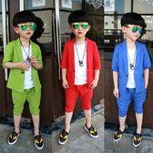 男童3禮服套裝4夏季套裝兒童5小西裝三件套6歲男孩7短袖9演出服潮 LI2840『時尚玩家』