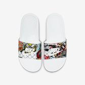NIKE WMNS BENASSI JDI PRINT [CK0731-111] 女鞋 拖鞋 涼鞋 運動 雨天 白彩