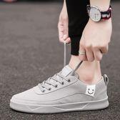 夏季新款男鞋子透氣男士百搭休閒帆布韓版潮運動ulzzang板鞋
