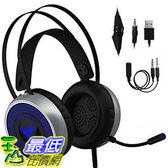 【美國代購】[最新2019] 適用於Xbox One S X PS3 PS4 PC的遊戲耳機 LED軟呼吸耳罩 Nintendo
