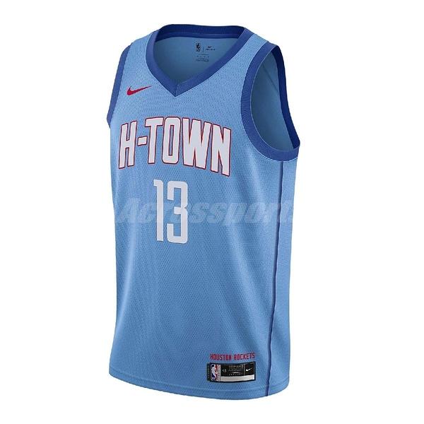 Nike 球衣 James Harden Houston Rockets City Edition 2020 NBA 藍 紅 男款 休士頓 火箭隊【ACS】 CN1731-467