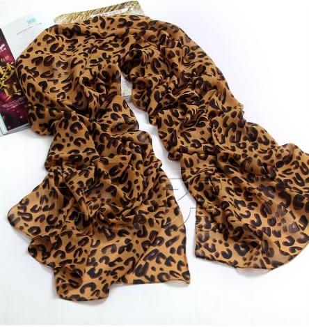 [協貿國際]夏季加大尺寸絲巾豹紋