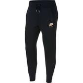 Nike AS W NSW PANT [931871-010] 女 運動 休閒 縮口 棉質 長褲 經典 舒適 黑 玫瑰金
