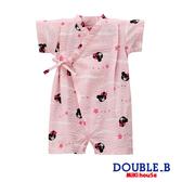 DOUBLE_B 日本製  可愛黑熊妹甚平連身服(粉紅)