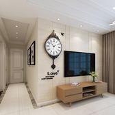 北歐式鐘錶掛鐘客廳現代簡約大氣新款時尚創意潮流裝飾藝術石英鐘 全館免運