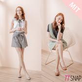 娃娃鞋-TTSNAP MIT簡約金屬飾扣蛇紋柔軟平底鞋 米/棕