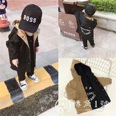 嬰童裝男童秋裝正反面兩穿兒童中長款風衣潮男寶寶連帽外套