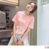 《AB12588-》台灣製造.竹節高含棉彩色潑漆塗鴉T恤/上衣 OB嚴選