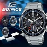 【人文行旅】EDIFICE   EQS-800CDB-1AVUDF 飆風競速太陽能腕錶 CASIO