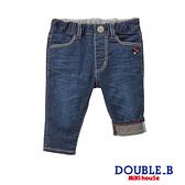 DOUBLE_B 牛仔刺繍9分褲