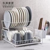 碗架 放碗碟架瀝水架廚房雙層筷子盤子杯子餐具碗筷收納架瀝水籃晾碗架 2色 交換禮物