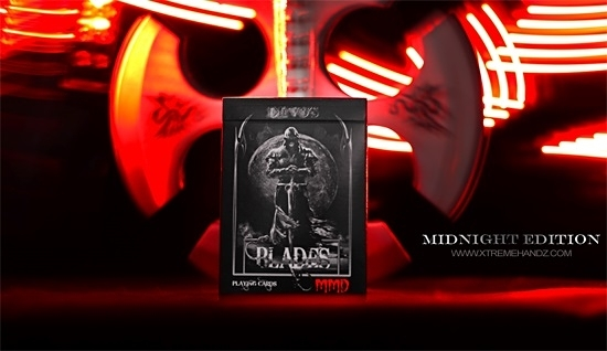 【USPCC 撲克】BLADES MMD Midnight Edition Blood Spear 血紅刀刃撲克牌