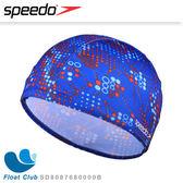 【Speedo】兒童彈性圓點點印花泳帽 Sea squad 藍 (適用2-6歲) SD8087680000B
