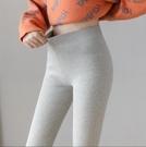 保暖打底褲 螺紋打底褲女秋冬加絨外穿彈力緊身九分羊羔絨加厚冬保暖顯瘦