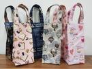 水瓶袋 水壺袋 提袋(深色/粉紅色 隨機出) 環保袋 飲料提袋 雨傘袋 收納袋 冰霸杯袋  防水