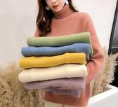 韓國韓系韓范糖果色毛衣高領針織衫馬卡龍保暖內搭衫2F112.9726胖胖唯依