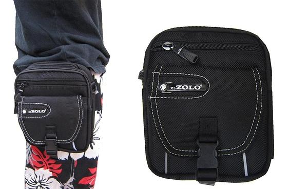 ~雪黛屋~ZOLO 腰包外掛型腰包6寸手二層主袋+外袋共四層工具隨身品輕便防水尼龍布ZW8226