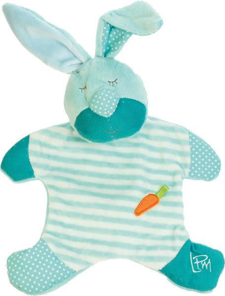 法國 Doudou 安撫巾-粉彩兔寶寶 23cm【Les Petites Marie】