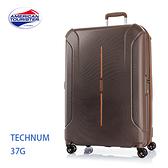 5折 Samsonite 美國旅行者 AT【Technum 37G】雙軌輪 防盜拉鍊 防刮 可擴充 28吋行李箱 咖啡色