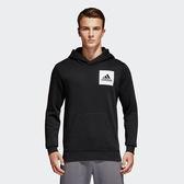 Adidas Ess Pullover 男 黑 連帽上衣 長袖 帽T 保暖 LOGO 棉質 大學T S98769
