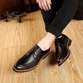 皮鞋 韓版黑色正裝真皮內增高尖頭男士新郎婚鞋英倫青年休閒男鞋子 迪澳安娜