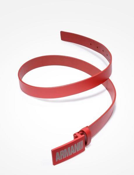 美國代購 現貨 AX ARMANI EXCHANGE 紅色 皮革皮帶 (34W) (951033-7P212)