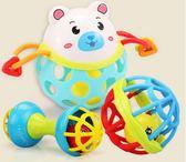 手搖鈴玩具嬰兒童0-1歲寶寶手抓可咬軟膠男孩女孩3-6-12個月【寶貝開學季】