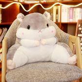 靠枕 倉鼠抱枕被子兩用靠背護腰靠墊靠枕辦公室腰墊毯子女座椅枕頭椅子「名創家居生活館」