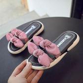 網紅拖鞋夏女童時尚蝴蝶結涼拖韓版可愛小公主防滑外穿沙灘鞋 小時光生活館
