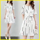 現貨-長洋裝寬鬆短袖T恤裙半袖連身裙 艾尚精品