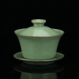 手工 龍泉青瓷大號陶瓷蓋碗