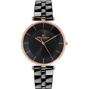 【南紡購物中心】【Max Max】簡約知性 時尚典雅陶瓷腕錶-40mm/黑(MAS5132-1)